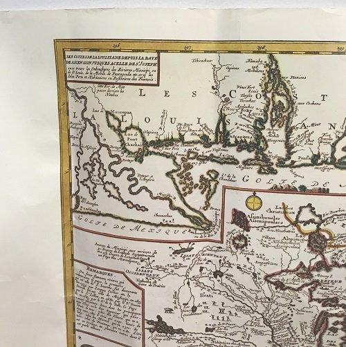 NEW FRANCE 1745 MAP Reiner Ottens - 5