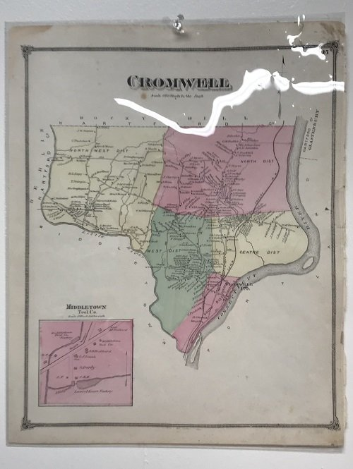 19th C.  Map of Cromwell CT