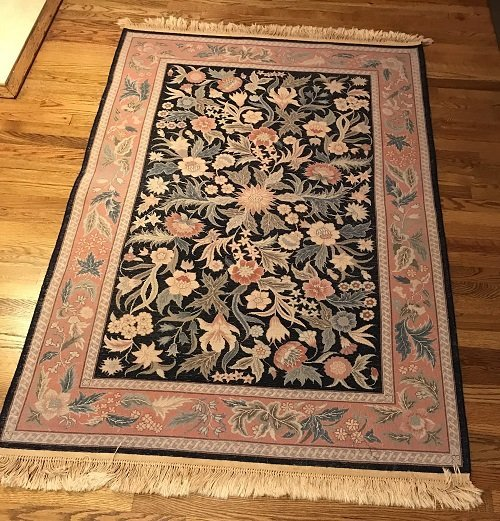 VINTAGE ORIENTAL AREA RUG 72 X 46 (INCHES) 100% WOOL - 4