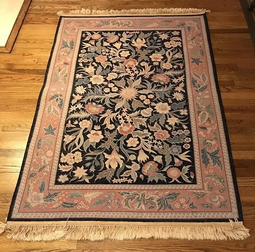 VINTAGE ORIENTAL AREA RUG 72 X 46 (INCHES) 100% WOOL - 5