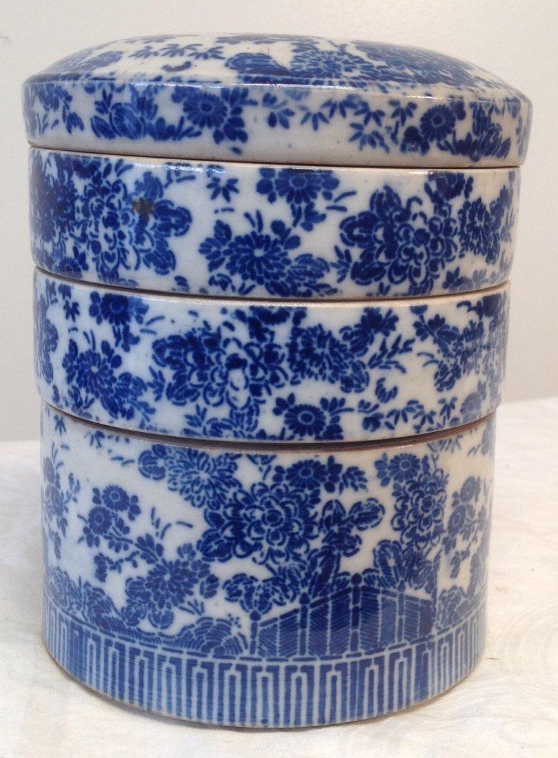 Vintage Chinese Dim Sum Tray/ Lid