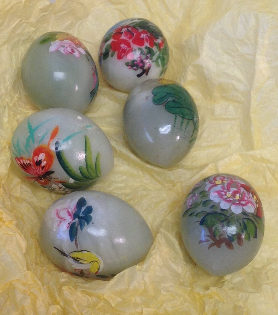 Chinese Jade Painted Eggs - 3