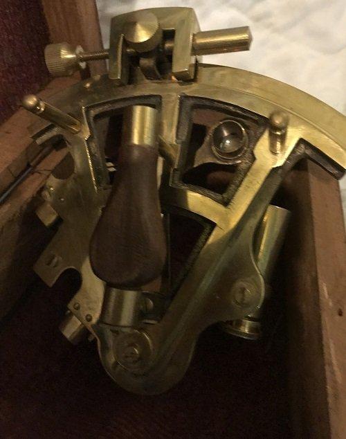 English Nautical brass telescope in box - 4