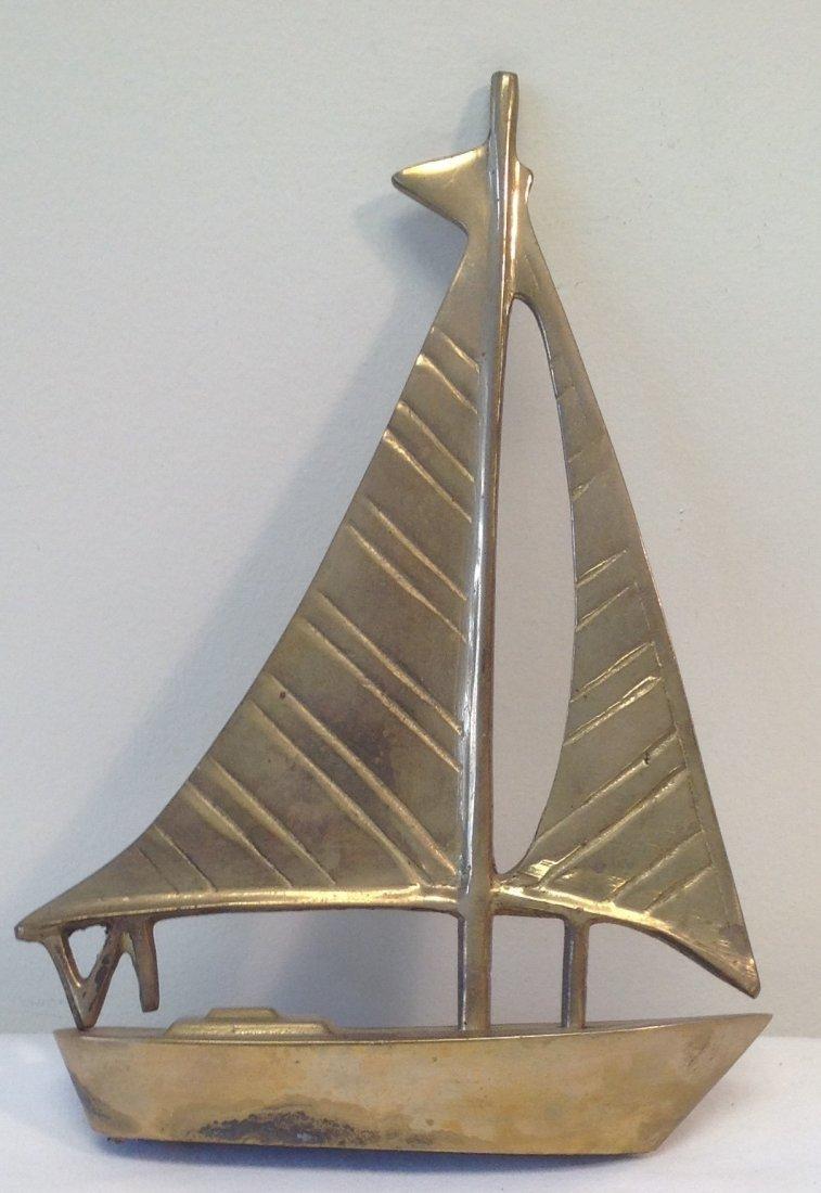 Brass Sail Boat 8 x 6