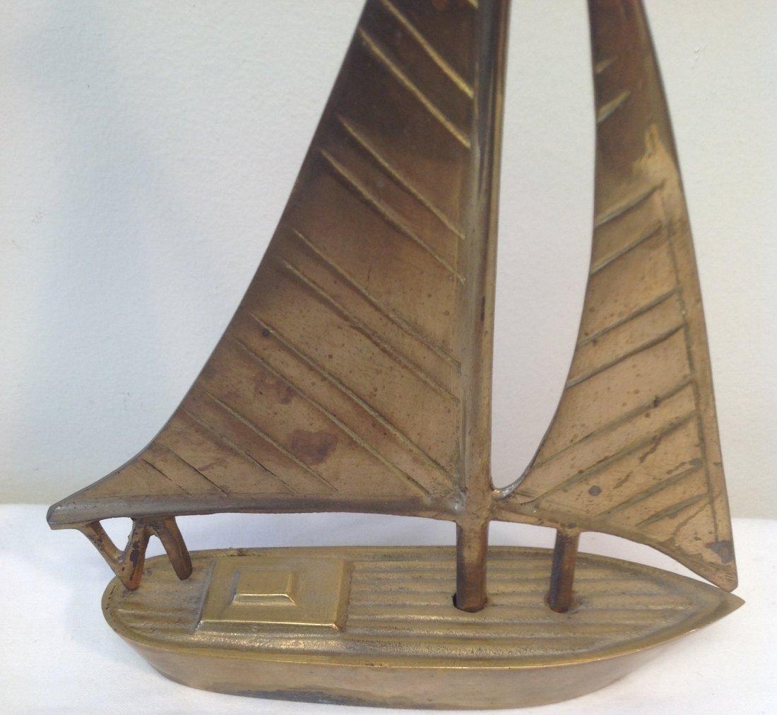 Brass Sail Boat 8 x 6 - 2