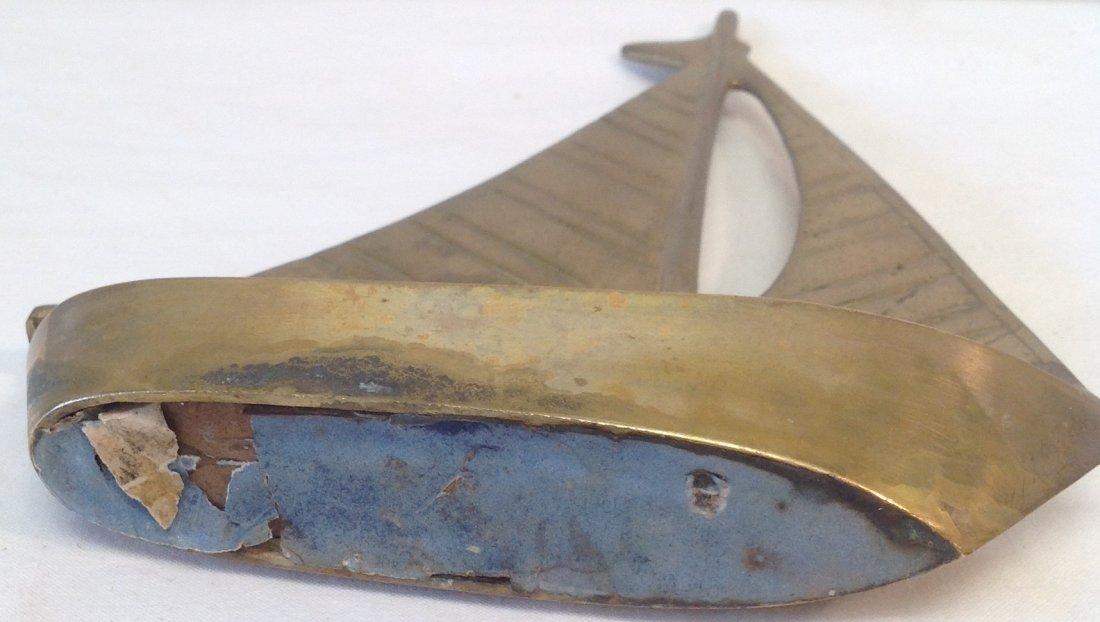 Brass Sail Boat 8 x 6 - 3