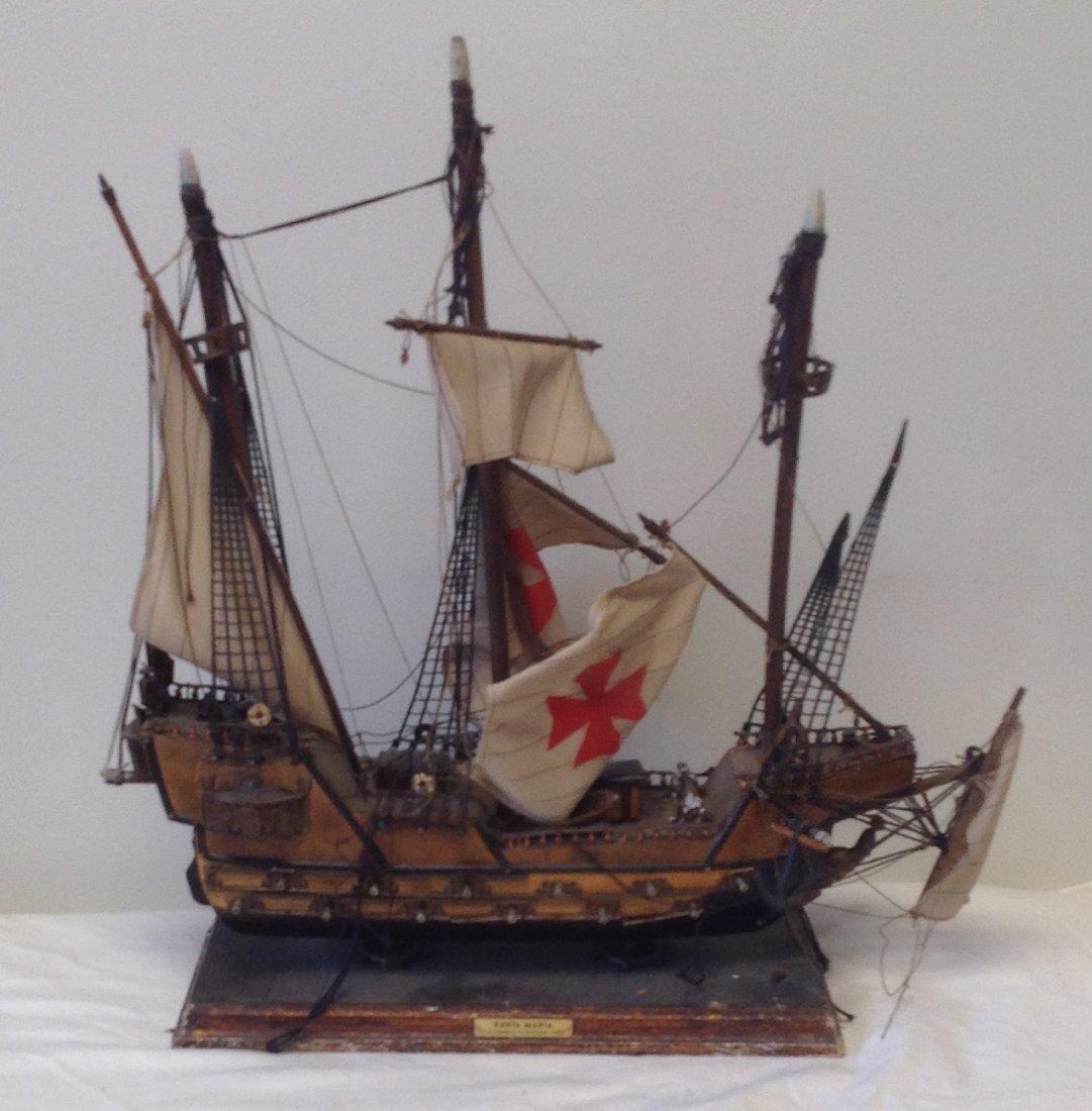 Sail boat Santa Maria model  18 x 15