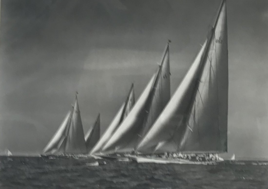 Stanley Rosenfeld Americas Cup Boat Photograph 20 x 16