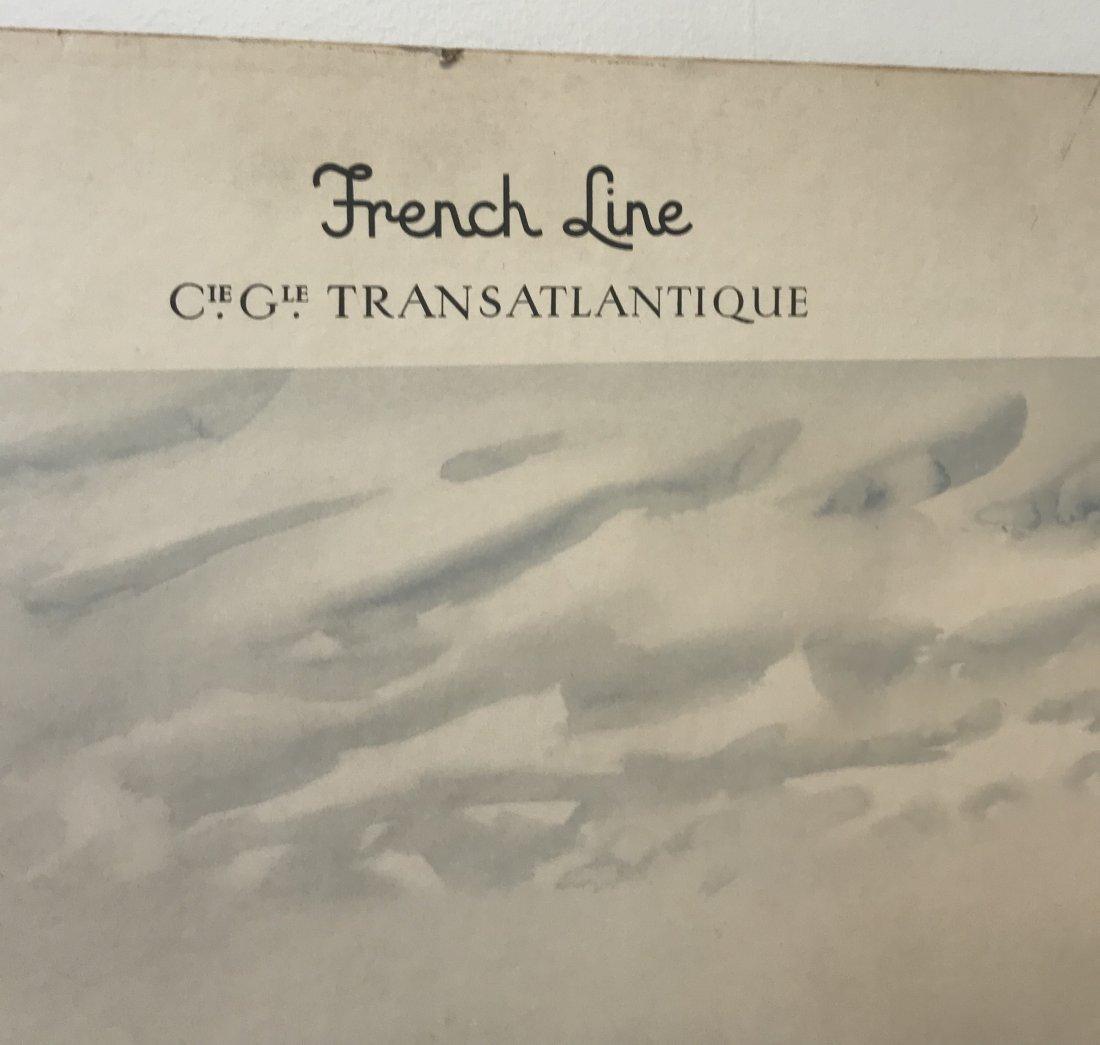 Marim Marie French Line LIBERTE Litho 30 x 22 - 3