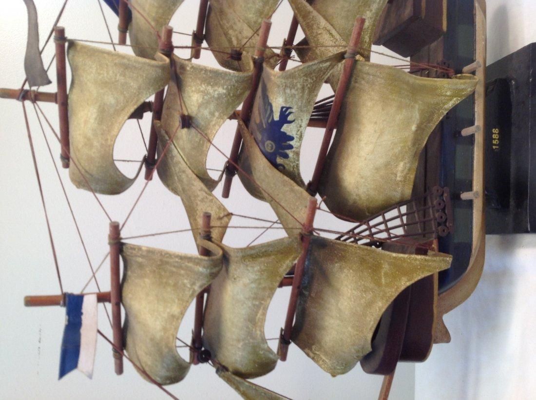1586 Spanish Galleon Sail boat model 21 x 15 - 2