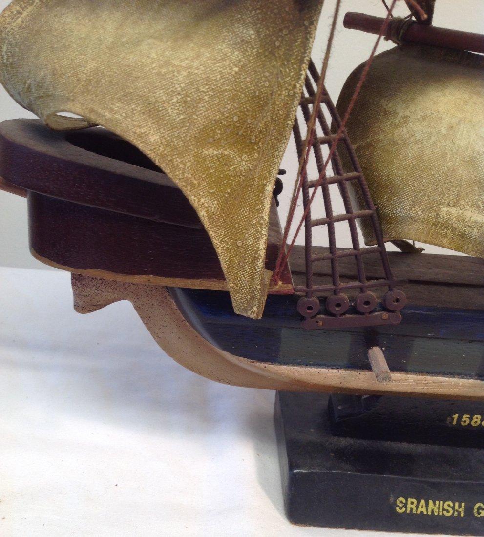 1586 Spanish Galleon Sail boat model 21 x 15 - 3