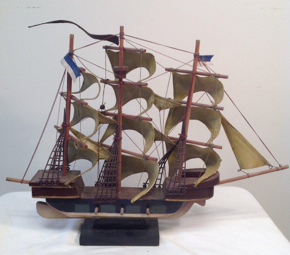 1586 Spanish Galleon Sail boat model 21 x 15 - 5