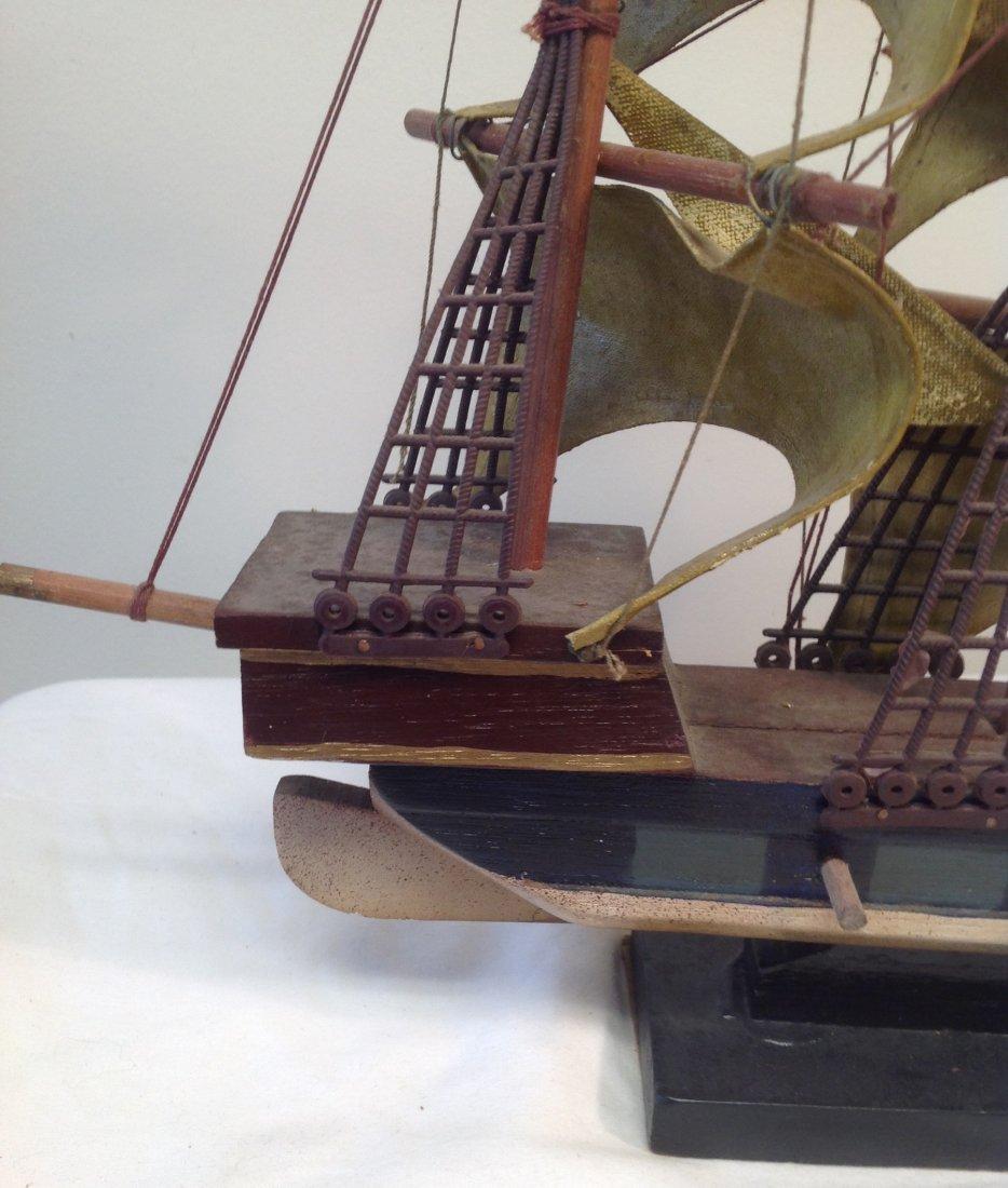 1586 Spanish Galleon Sail boat model 21 x 15 - 6
