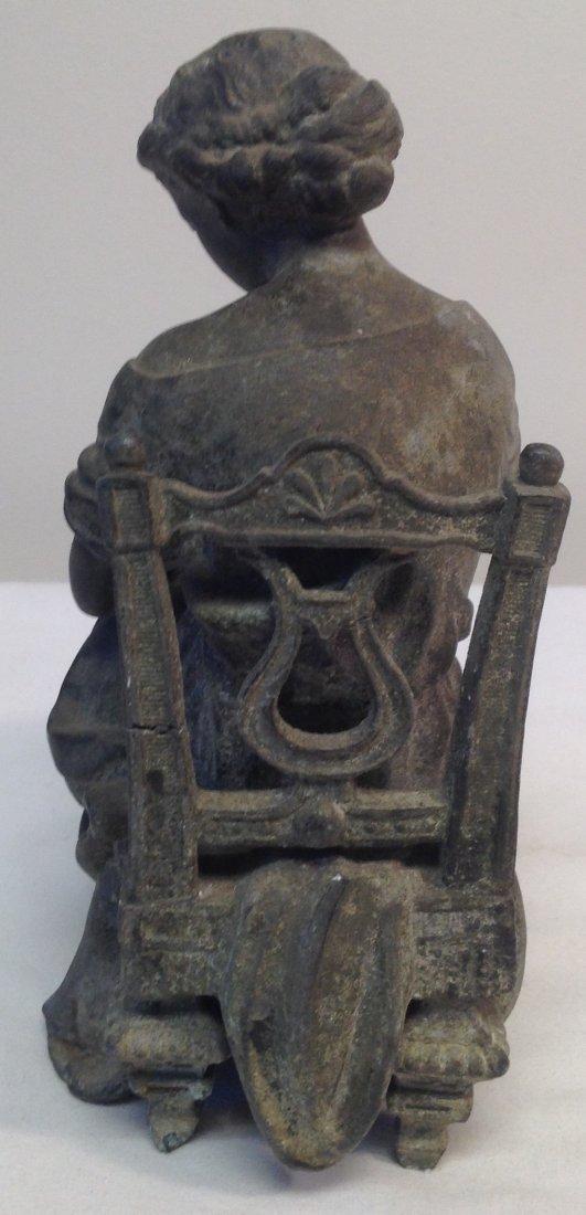 Woman Sitting on Chair Figurine - 3