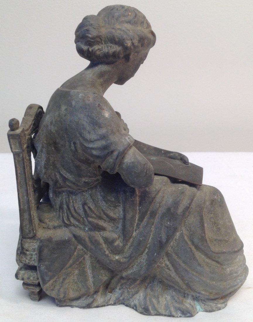 Woman Sitting on Chair Figurine - 4