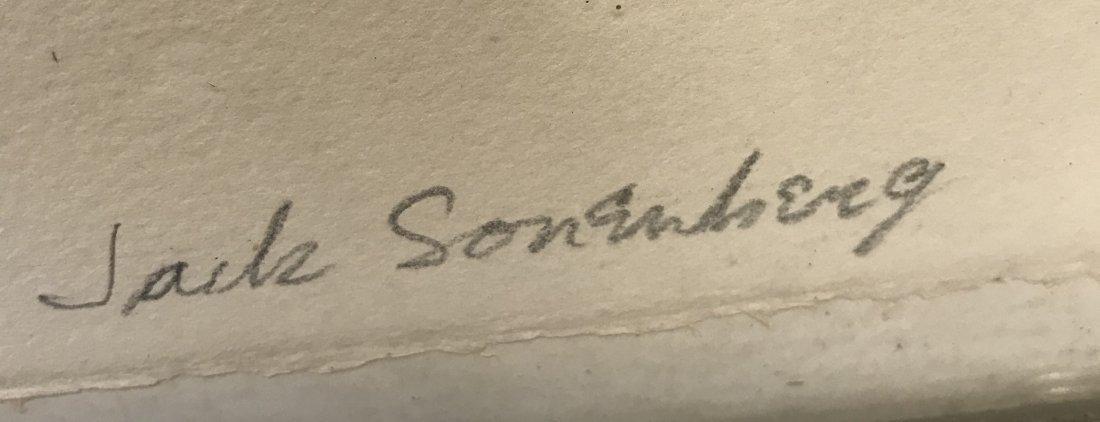 Signed Jack Sonenberg Lithograph 31/50. - 3