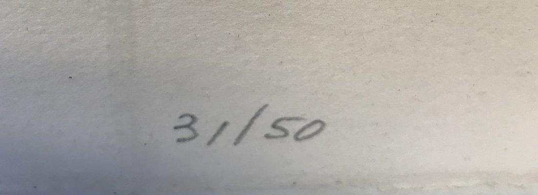 Signed Jack Sonenberg Lithograph 31/50. - 4