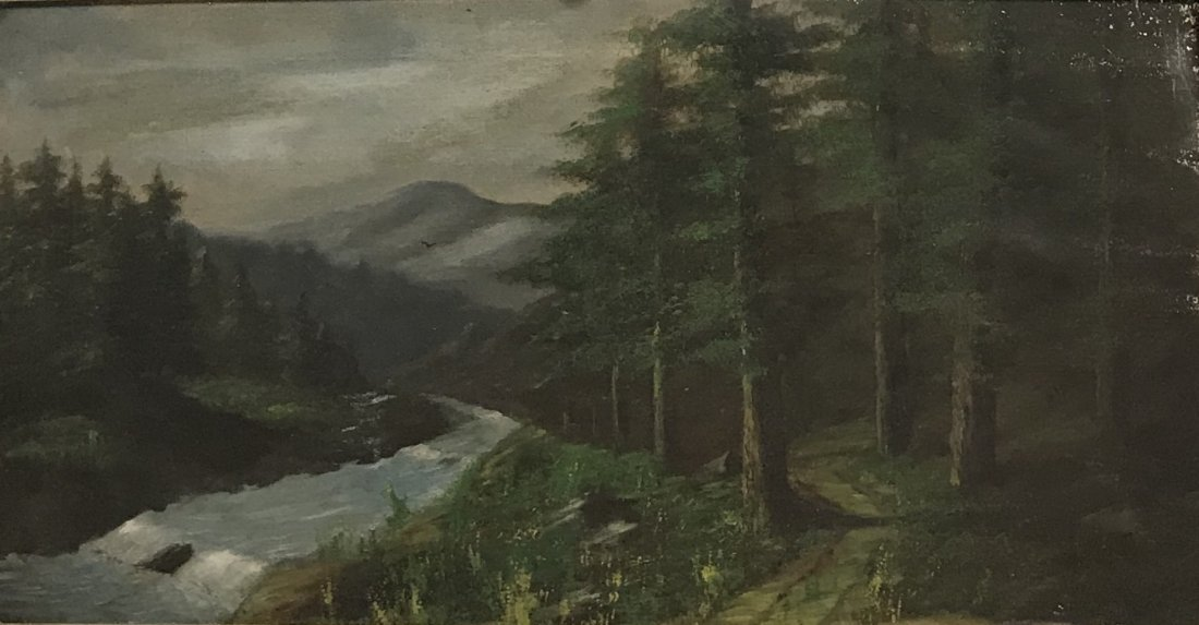SIGNED HUDSON RIVER SCHOOL PAINTING 31 x 18