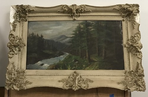 SIGNED HUDSON RIVER SCHOOL PAINTING 31 x 18 - 2