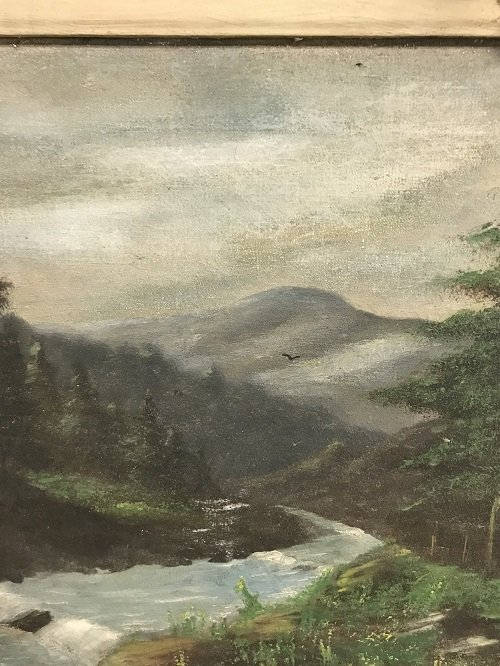SIGNED HUDSON RIVER SCHOOL PAINTING 31 x 18 - 3