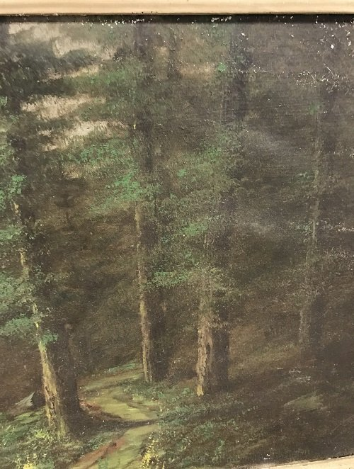 SIGNED HUDSON RIVER SCHOOL PAINTING 31 x 18 - 5