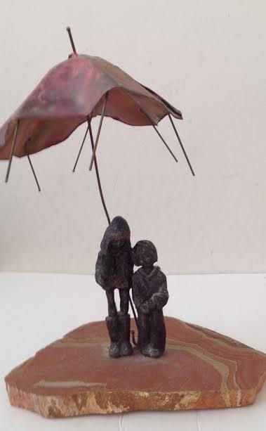 Art Decor Cast Bronze Brass Boy/ Girl Figurine