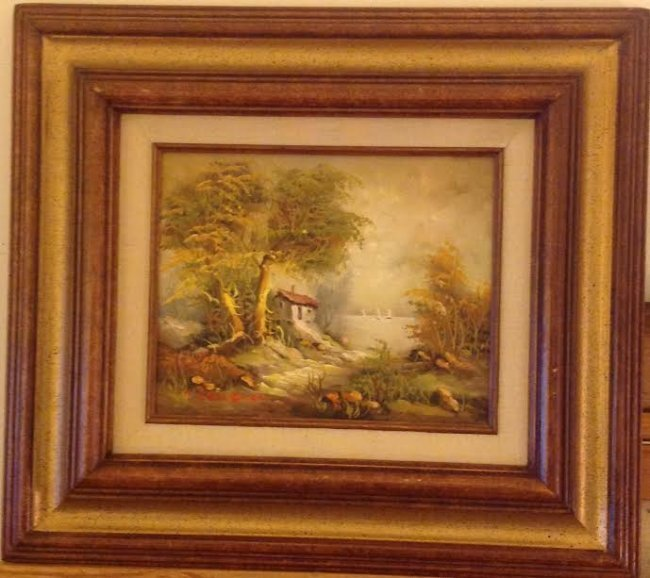 SIGNED B GRONGMAN OIL PAINTING 16 X 18