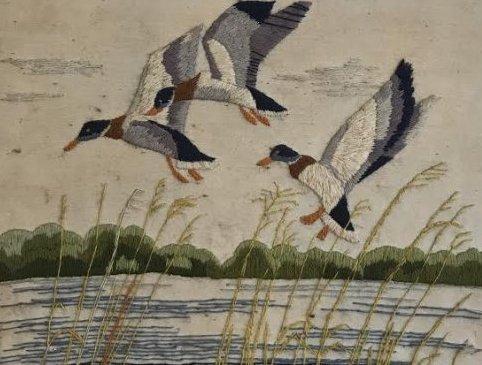 NEEDLEPOINT - MALLARD BIRDS 24 x 20