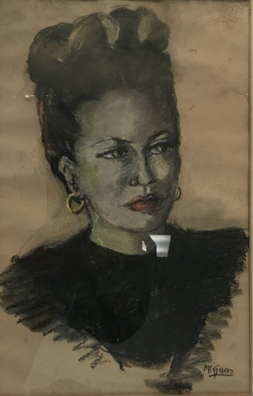 IRA McDADE - Woman Portrait Pastel 23 x 19