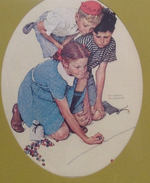 Vintage Norman Rockwell Color Print 21 x 16
