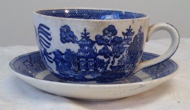 Asian Floral Cup & Saucer