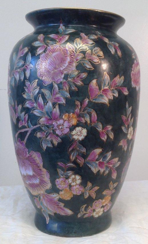 Asian Floral Vase 12 x 5