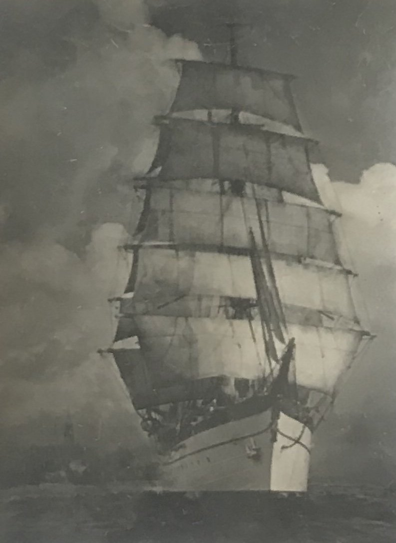 Signed Photograph Sail Boat
