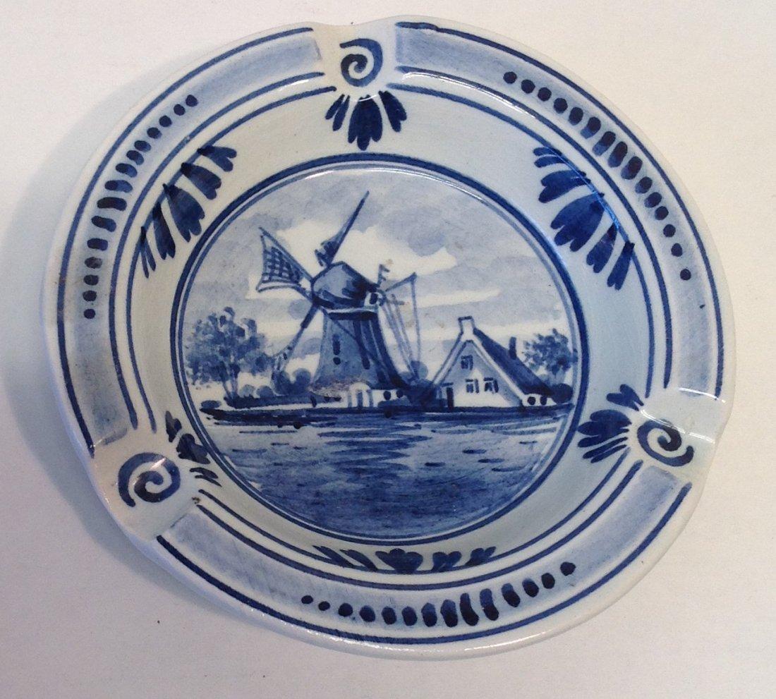 Vintage Large Delft Windmill Ashtray