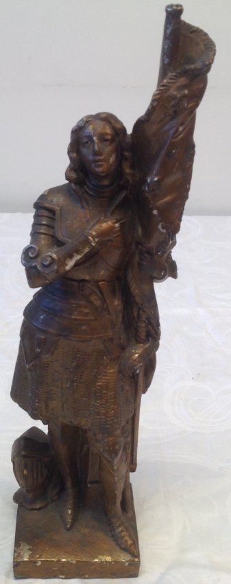 1890 Joan of Arc Statue 14 In Tall