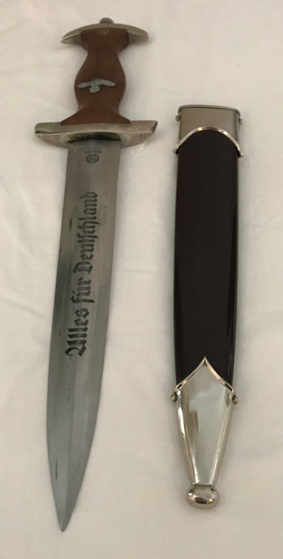 WWII German SS Dagger With Scabbard