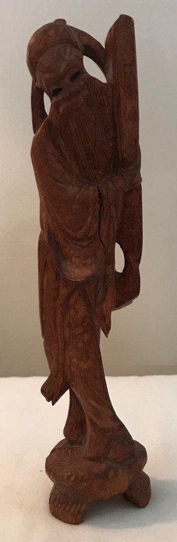 Vintage Wooden Chinese figurine 9 H