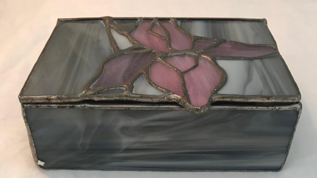 Stained Glass Trinket Box 5 x 3.5