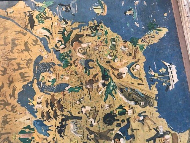 Antique William Gropper's America Folklore Map 1940s - 5