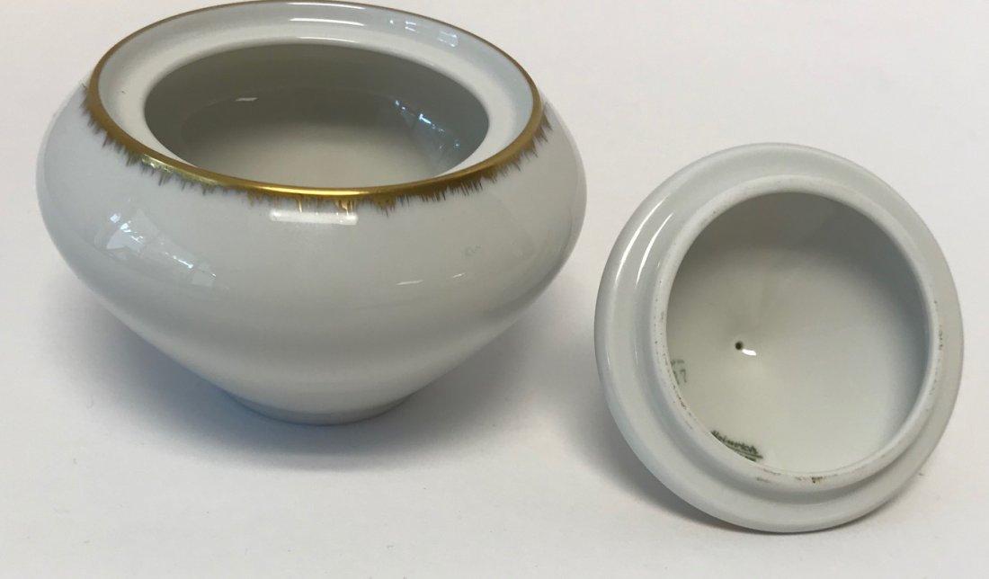"""H&G Selb """"Gracie"""" small Gilt sugar bowl & lid - 3"""