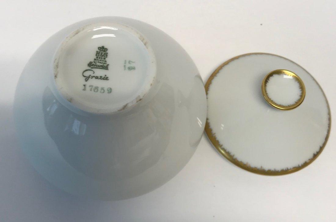 """H&G Selb """"Gracie"""" small Gilt sugar bowl & lid - 4"""