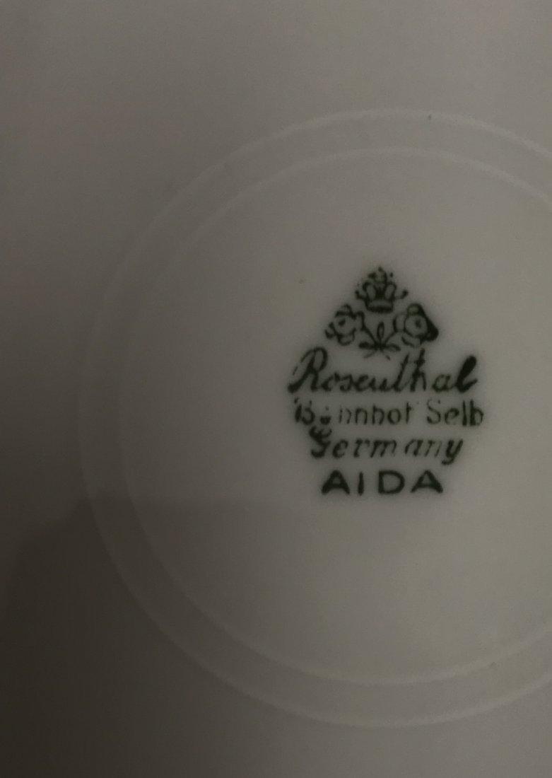 "Rosenthal Bahnof Belb stamped ""Aida""  5 white salad / - 5"