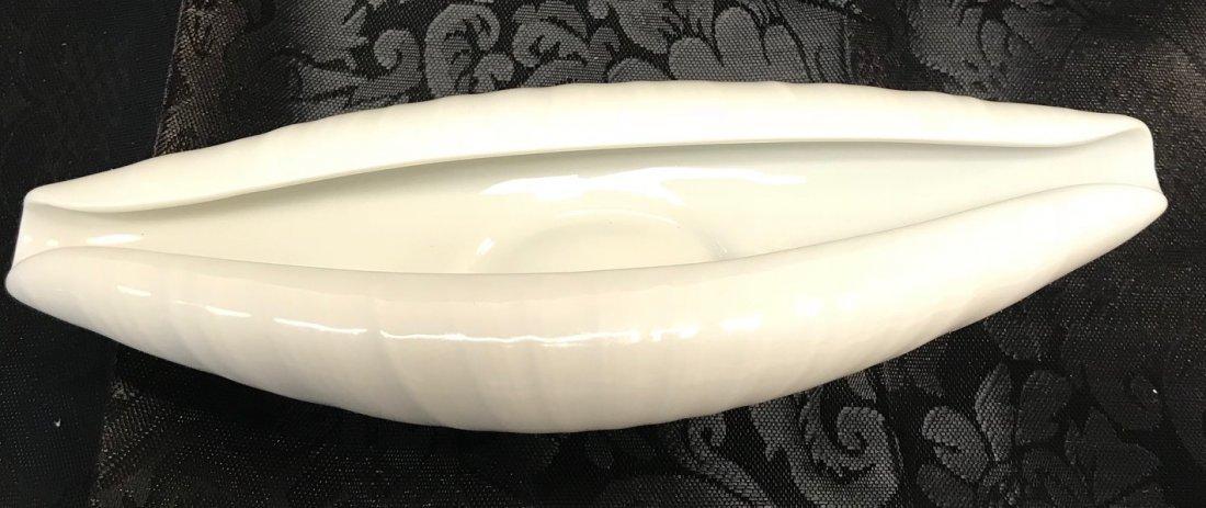 White Hutschenreuther oval kunstabeilunn Napkin Holder