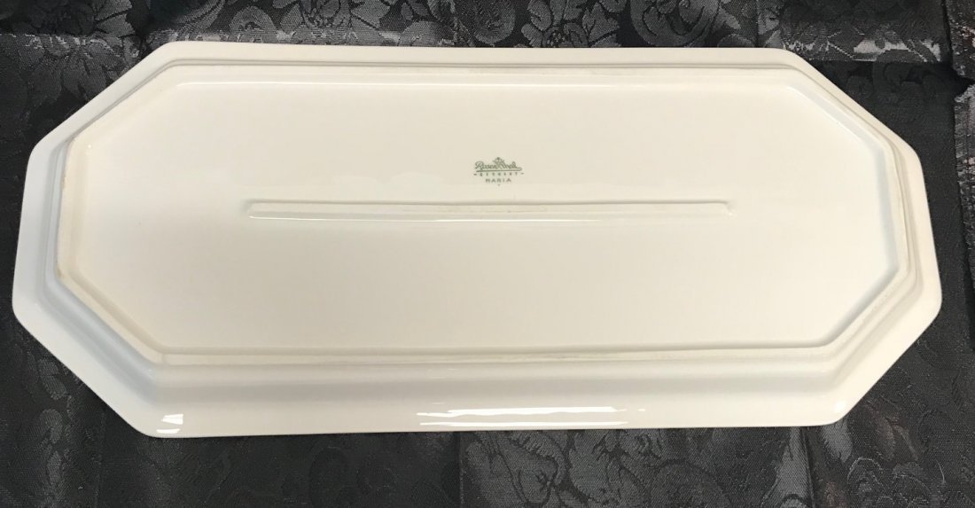 Rosenthal white decorated serving tray LT 2 - 2