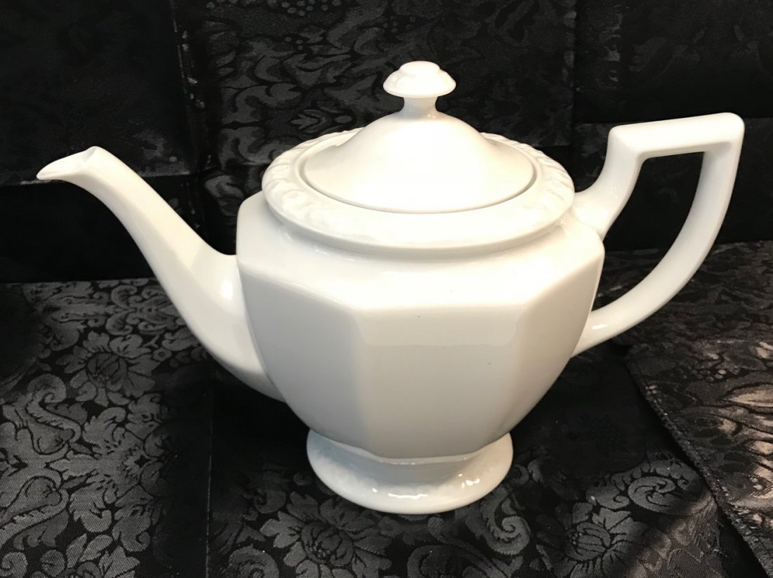 """Rosenthal Maria"""" white decorated tea pot & Cover - 2"""