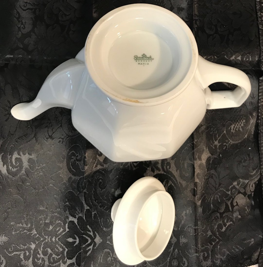 """Rosenthal Maria"""" white decorated tea pot & Cover - 5"""