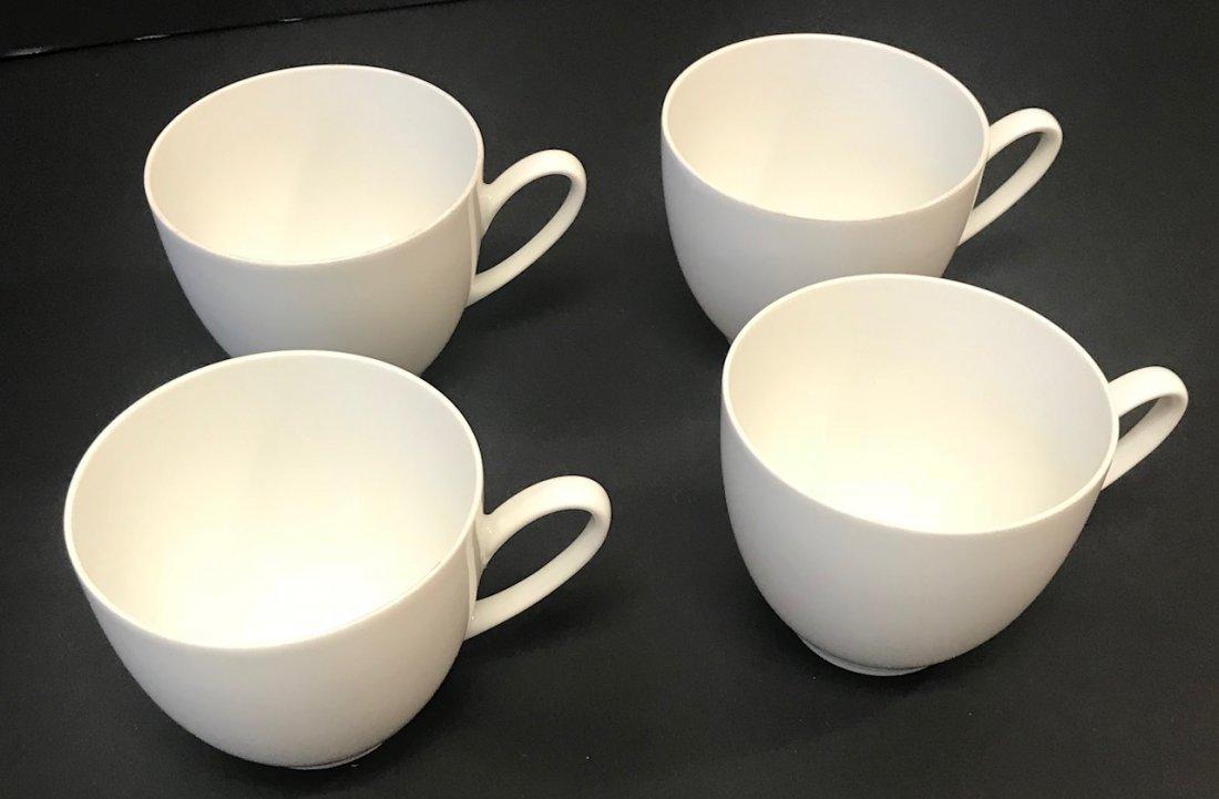 "4 White Hutschenreuther ""Olivia 63""  Tea cups"