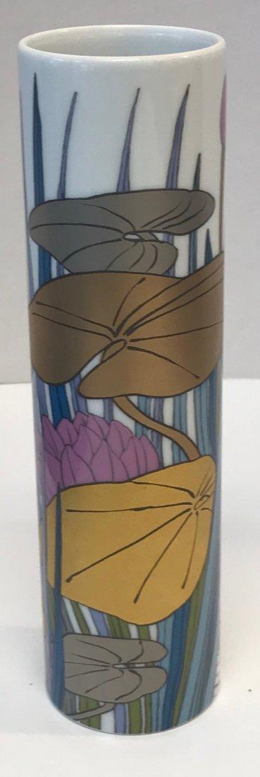 Rosenthal multicolor foral vase stamp 14 0