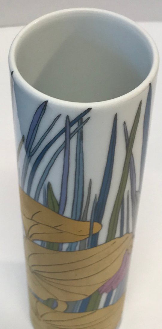 Rosenthal multicolor foral vase stamp 14 0 - 3