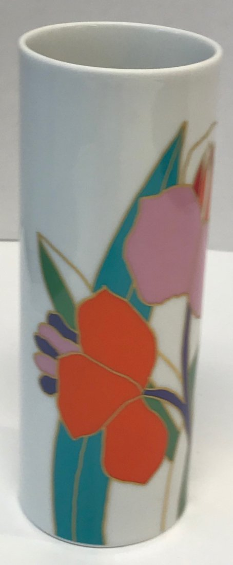 "Rosenthal stamped ""Studio-Linie"" orange floral vase"